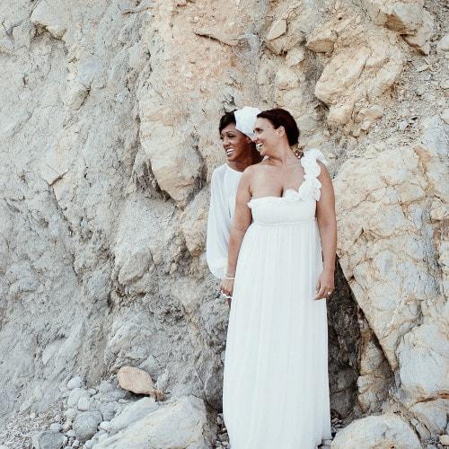 lesbian wedding portrait