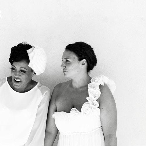gay wedding bride and bride