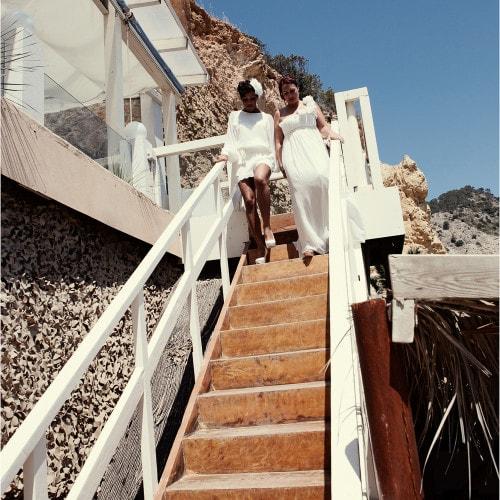 gay wedding ibiza entrance