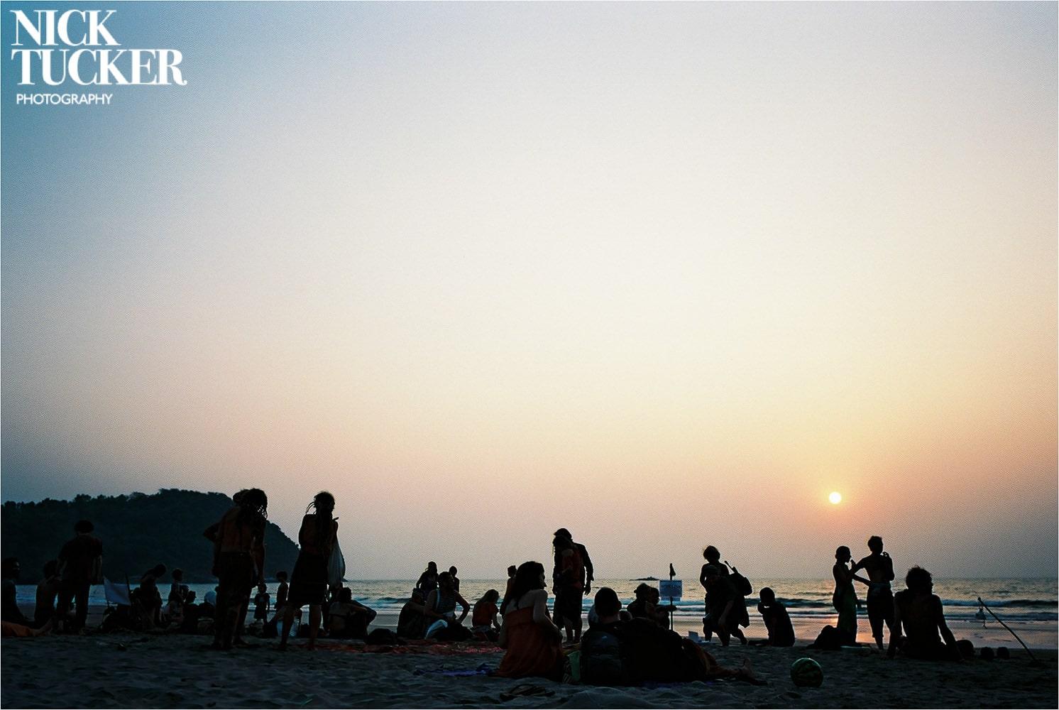sunset on kuble beach