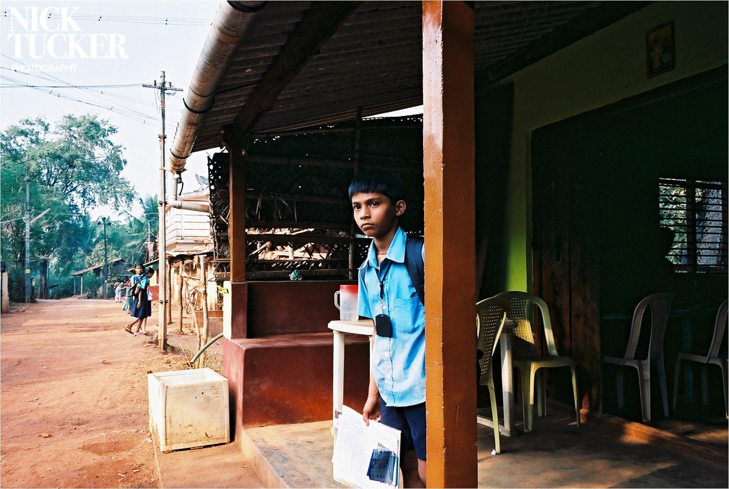 indian schoolboy