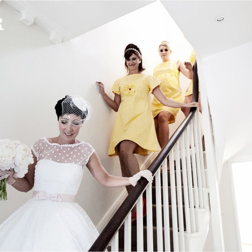 bride in candy anthony wedding dress