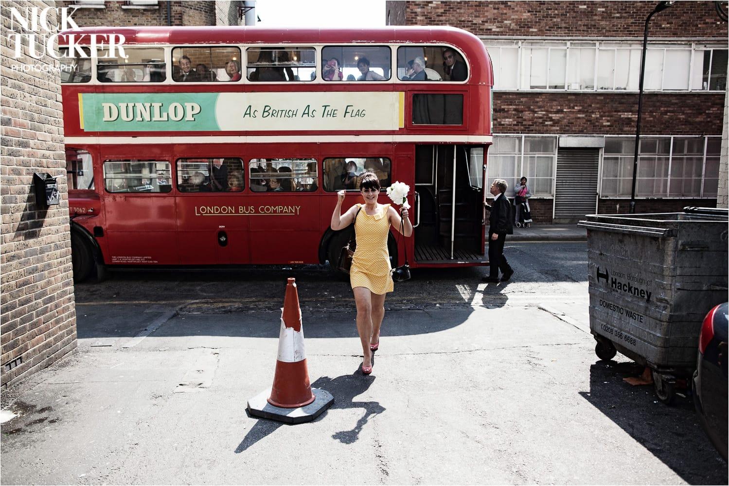 wedding routemaster bus