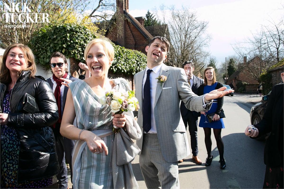 bride and groom popcorn confetti