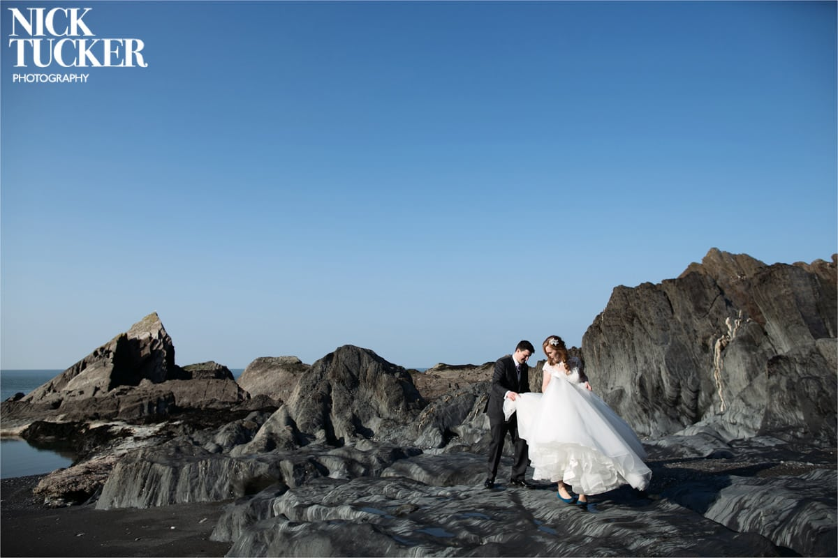 bridal fashion photography at the tunnels beaches
