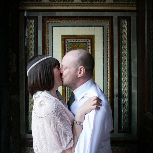 couple portrait doorway Bacchus Pub & Kitchen