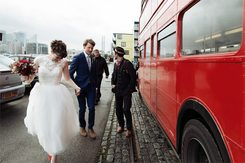 Trinity Buoy Wharf wedding photography | Erica & Matthew