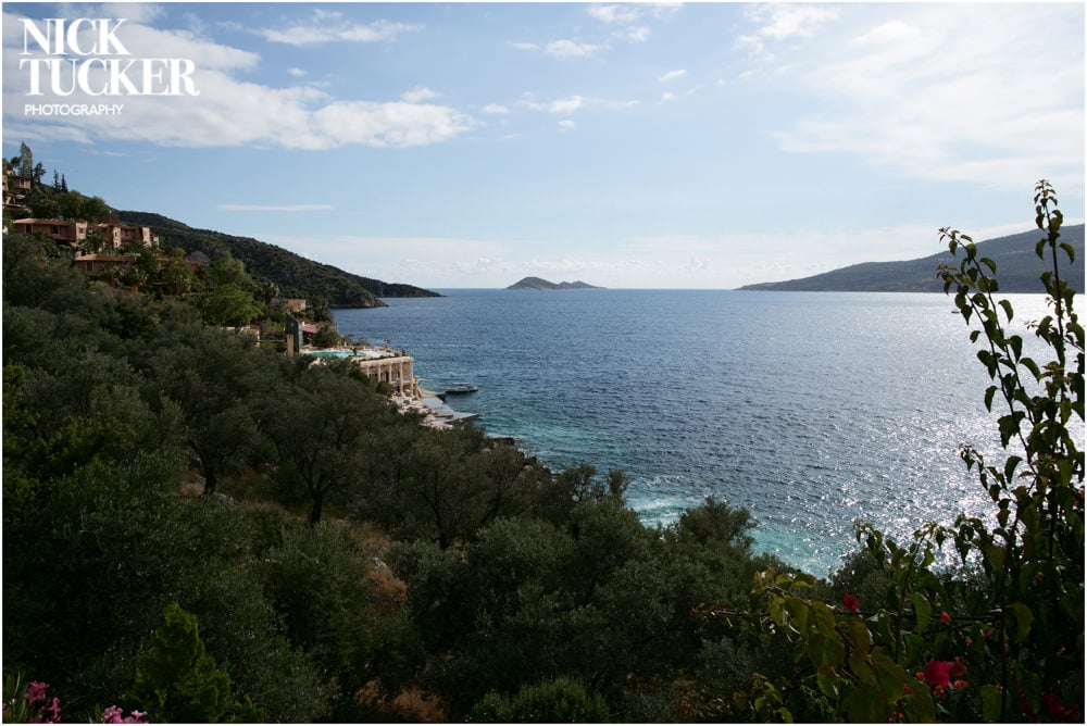coastal view from villa in kalkan