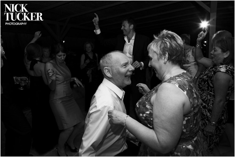 parents on the wedding dancefloor