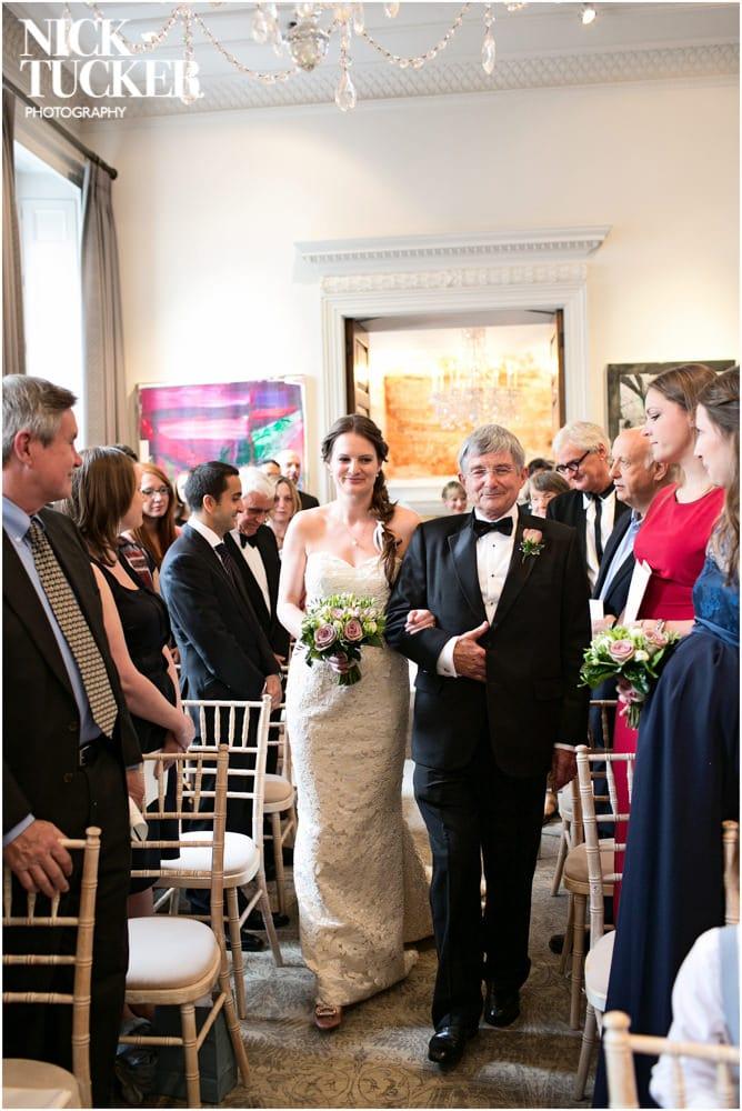 arts club wedding ceremony