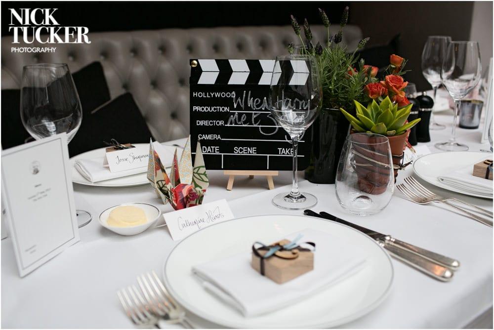 arts club wedding table details