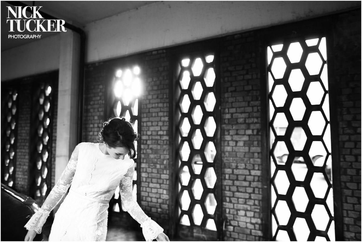 bride in stella McCartney dress