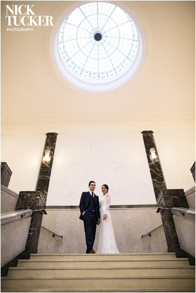 art deco wedding Bethnal Green Town Hall Hotel