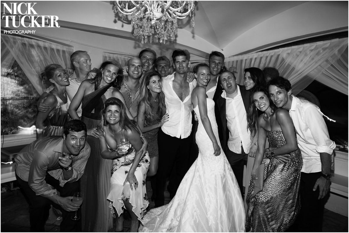 st tropez wedding crowd