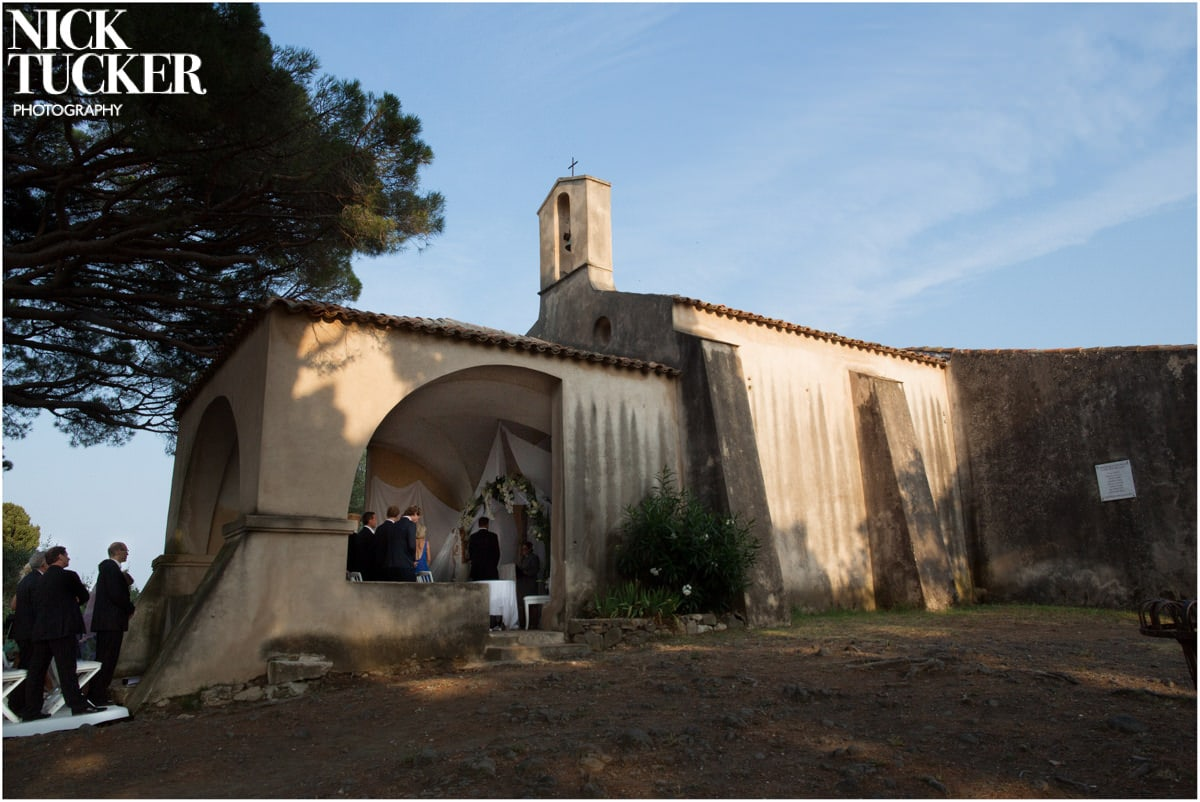 rusitc st tropez church wedding
