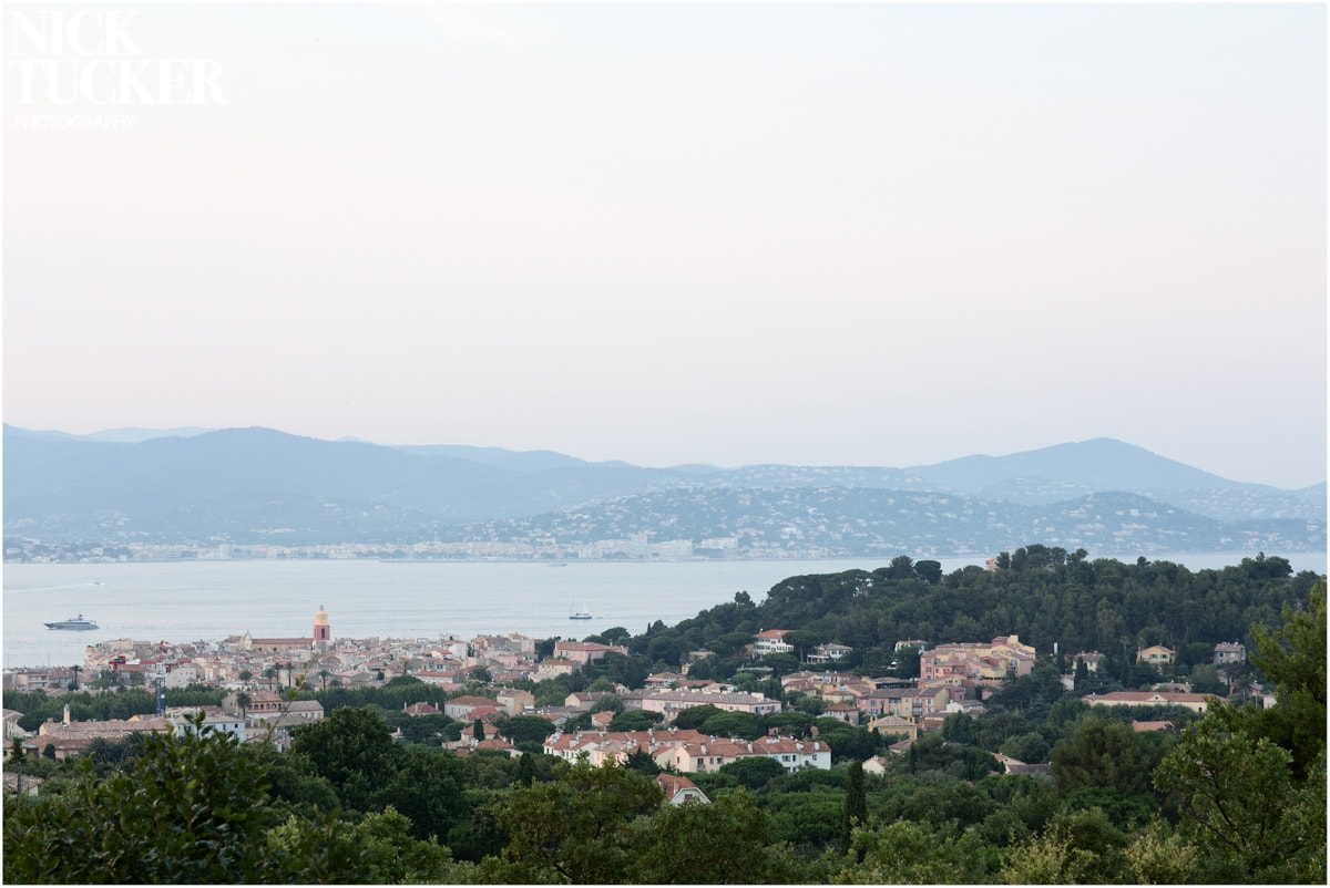 view from st tropez church