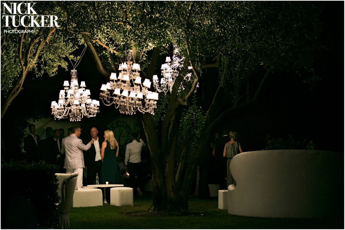 outdoor wedding chandeliers detail