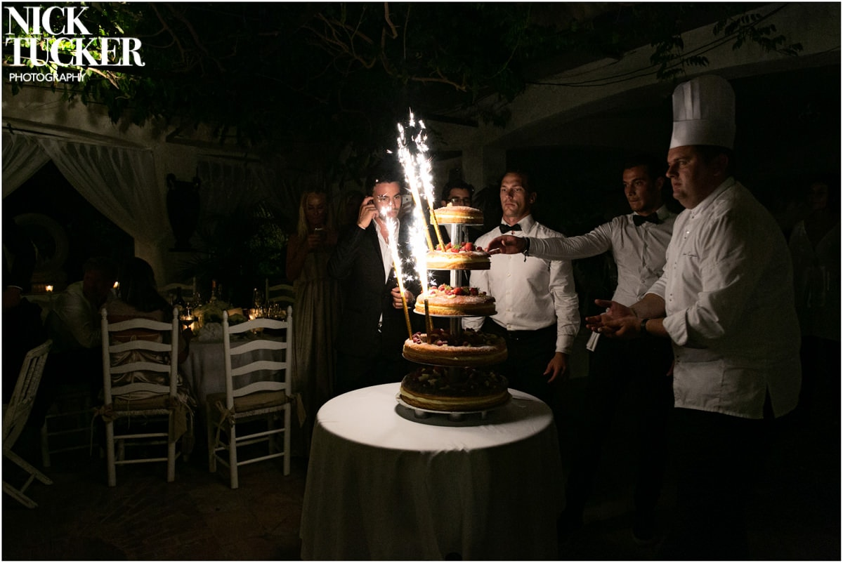 st tropez wedding cake