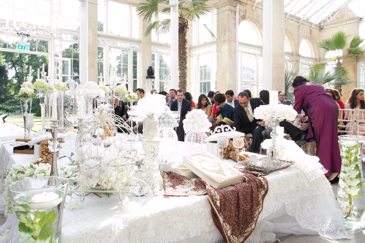 persian wedding table detail