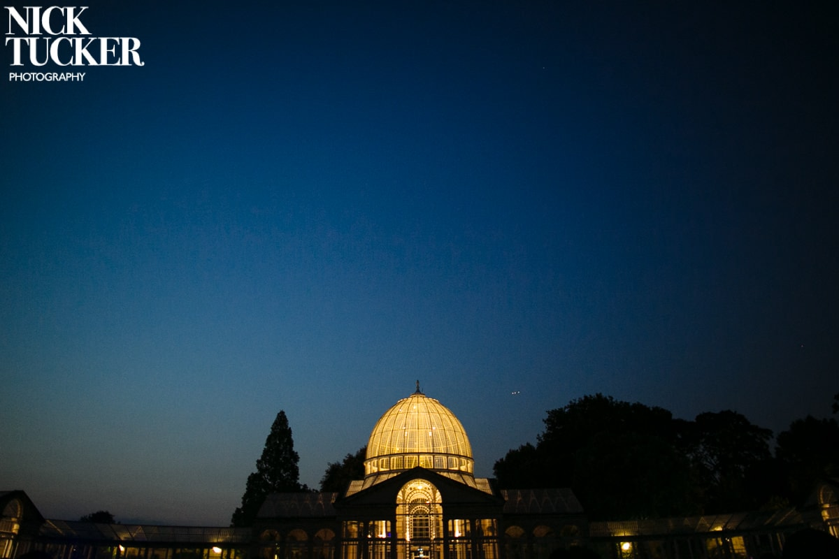 syon park great conservatory at night
