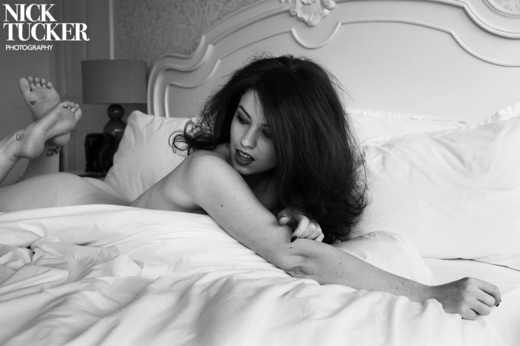 black and white pin up photography london