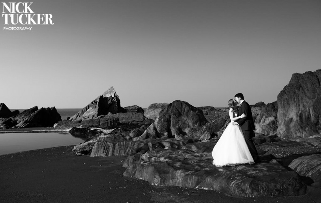 devon coast wedding photography