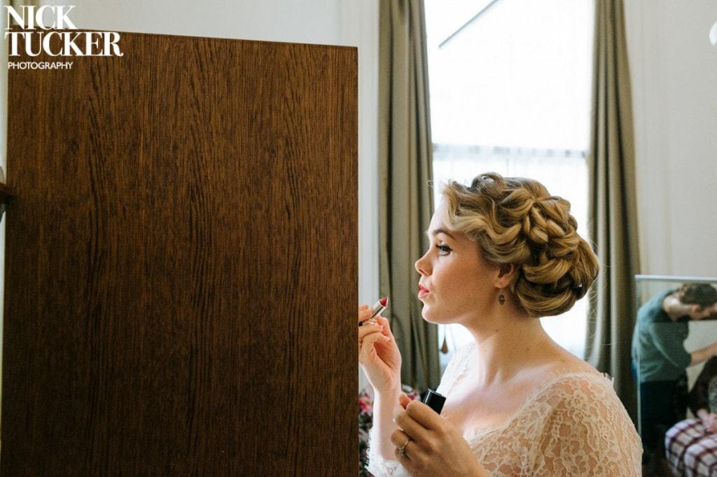 bride and lipstick