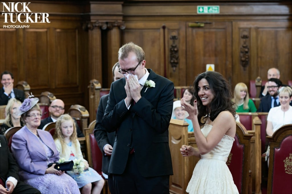 teary groom
