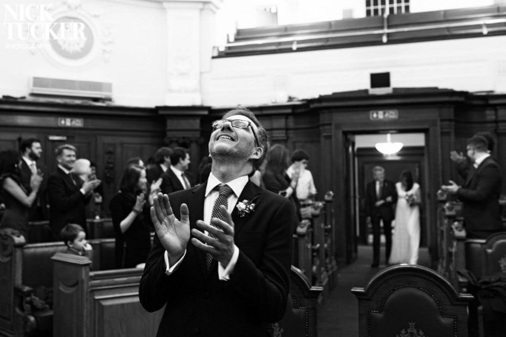 relieved groom