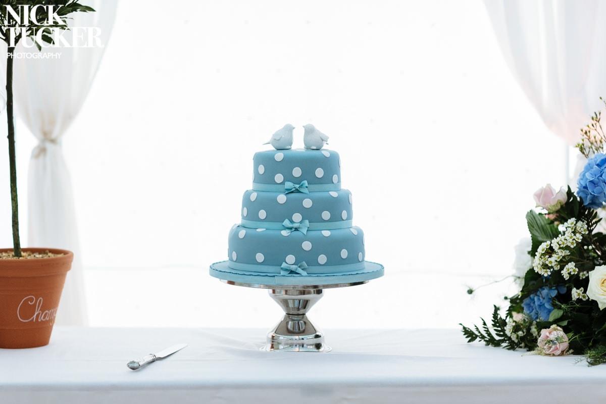 polka dot wedding cake detail