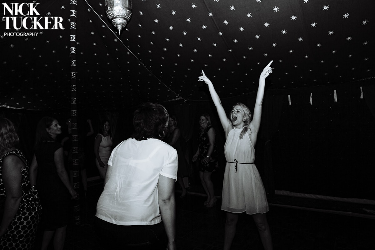 wedding marquee dancing