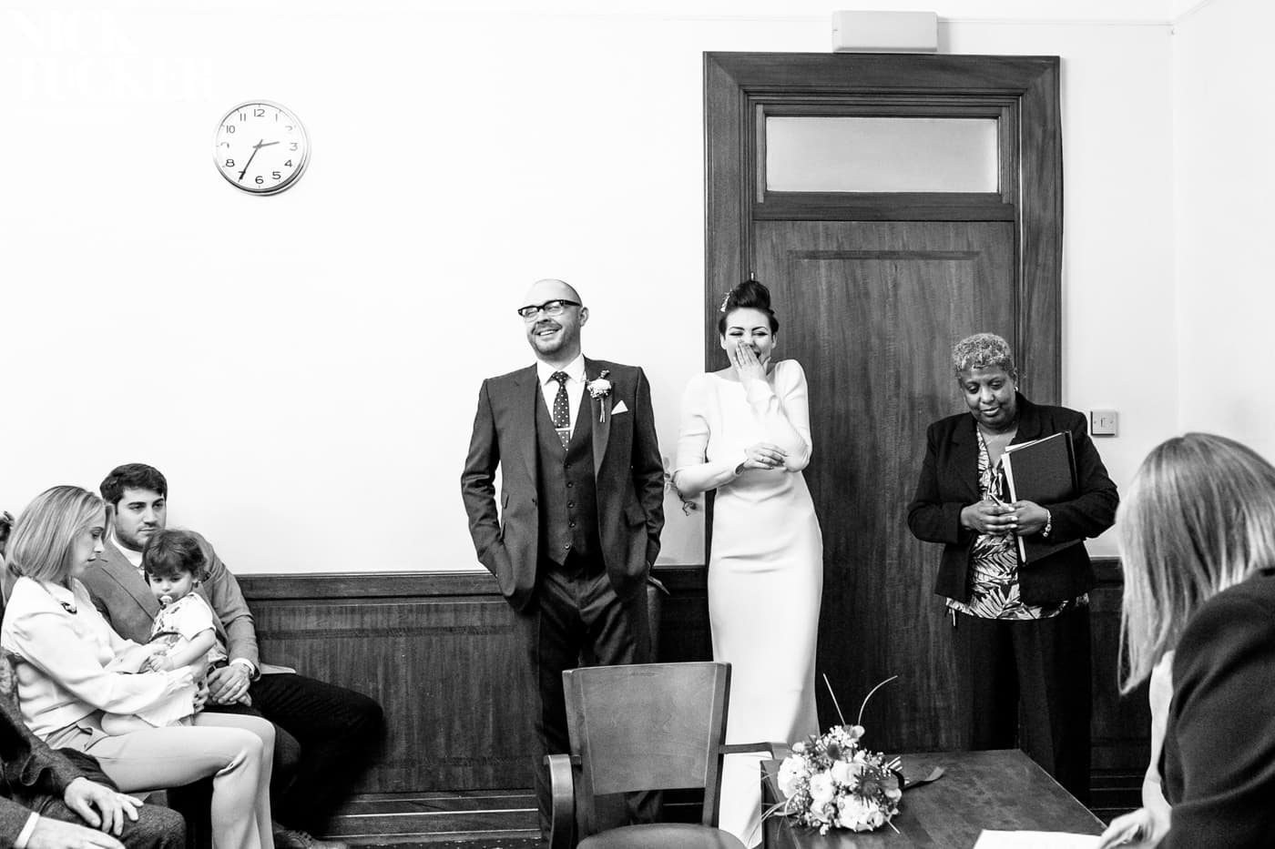 happy natural wedding photography