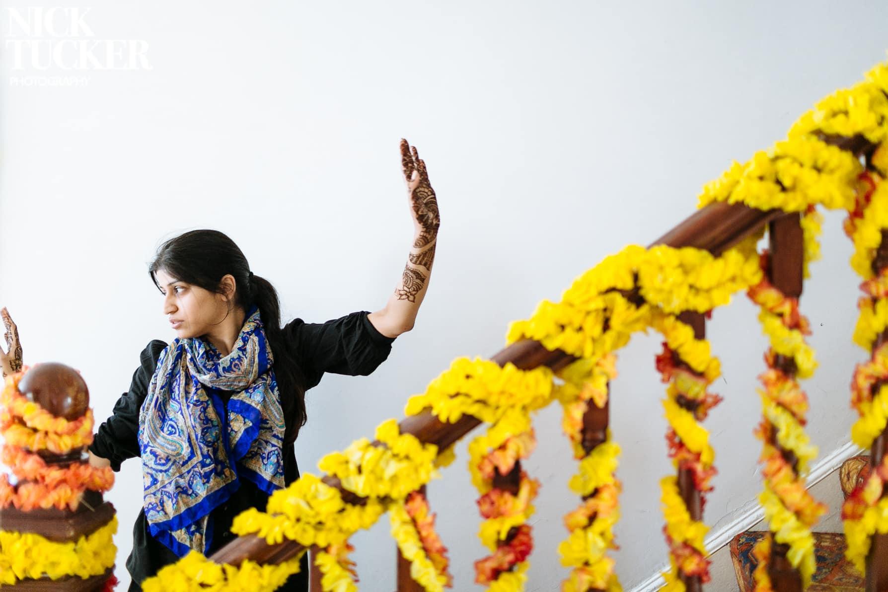 asian bridal prep flowers