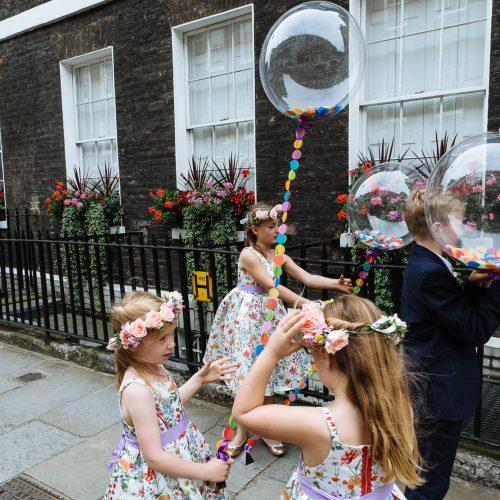 flower girls wedding balloons