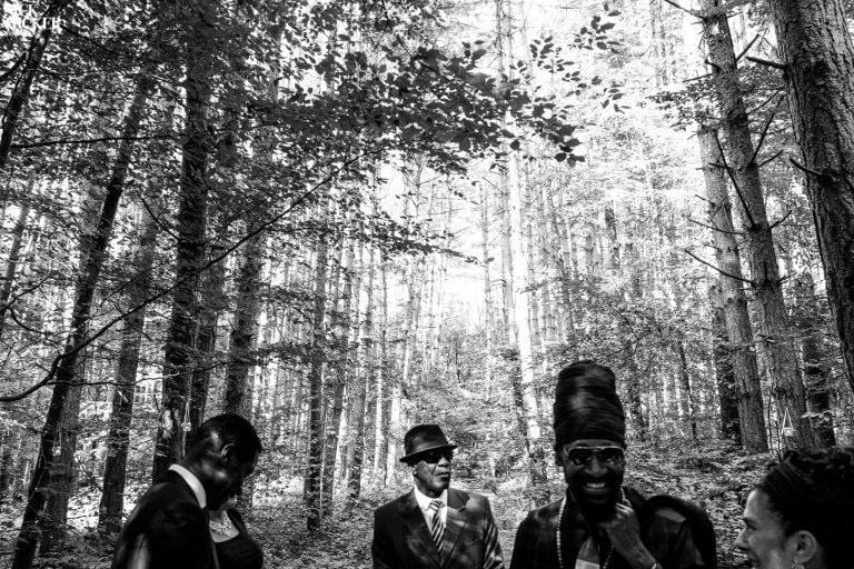 black wedding photography