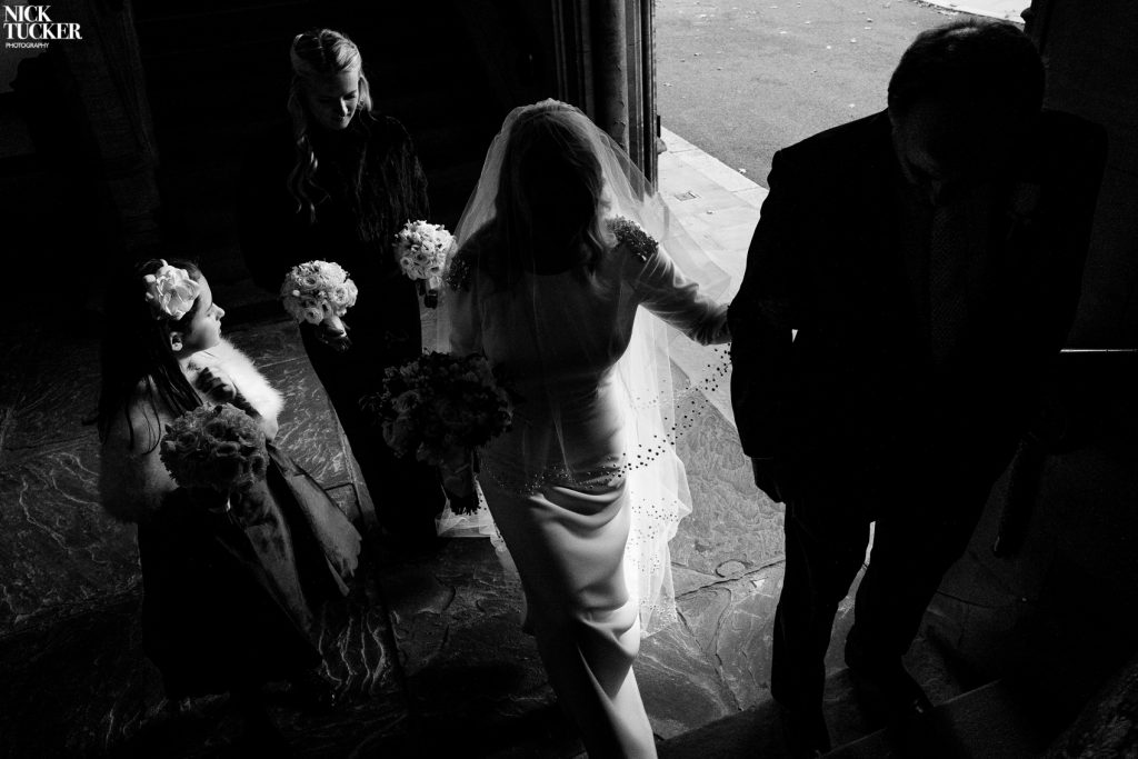 bride in shadow london wedding photographer