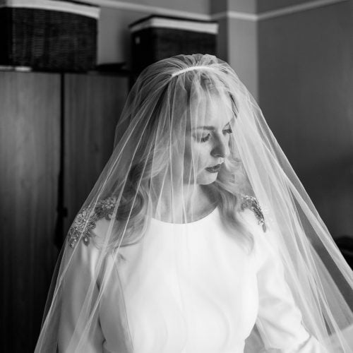 oscar de la renta wedding veil