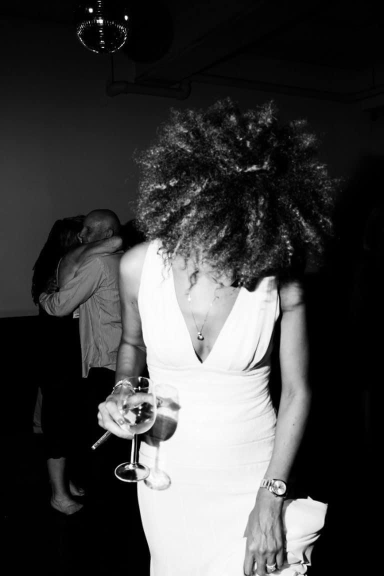 afro bride photo