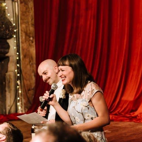 wilton's music hall wedding speeches