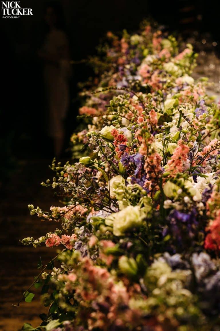 wedding inspiration head table flowers