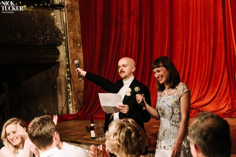 wilton's music hall wedding speeches