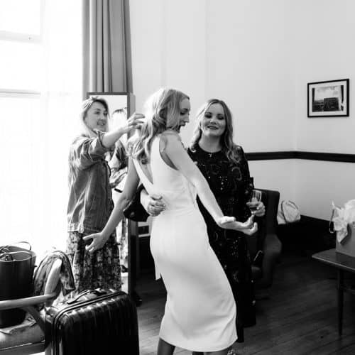 bethnal green town hall hotel wedding bridal prep