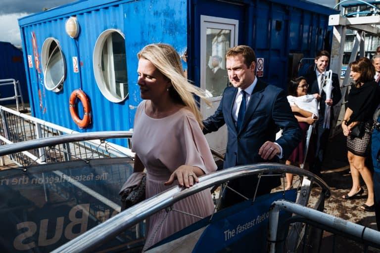 wedding london boat ride