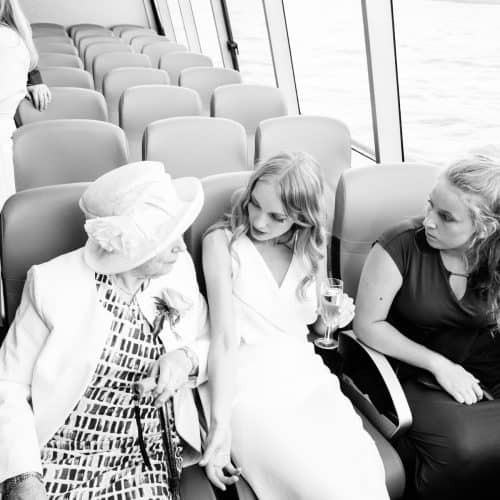 wedding london boat ride