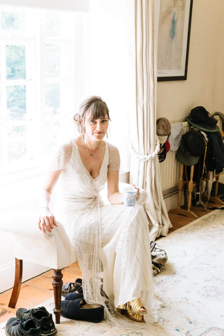 english country garden wedding morning