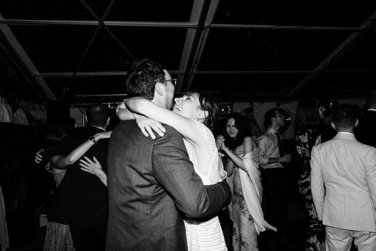 english marquee wedding dancing