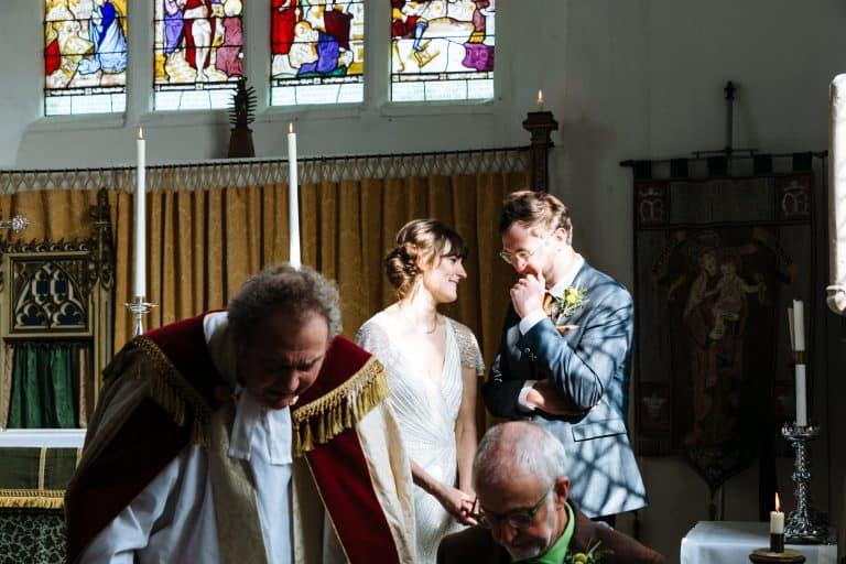 english country church wedding