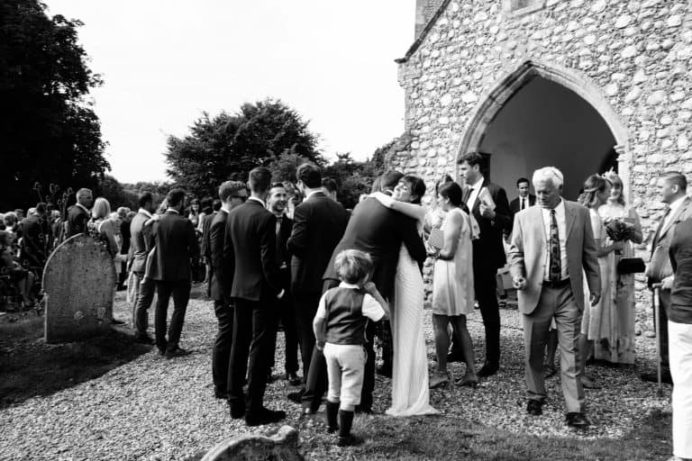 english country church wedding