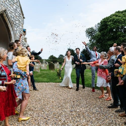 english church confetti shot