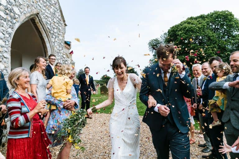 church confetti shot